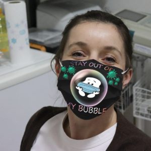 Snoopy - Stay Out Of My Bubble Cloth Face Mask