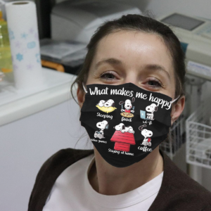 Snoopy - What Makes Me Happy Cloth Face Mask