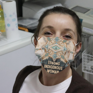 Strong Indigenous Woman Cloth Face Mask