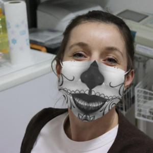 The Day Of Dead Tattoo Girl Cloth Face Mask