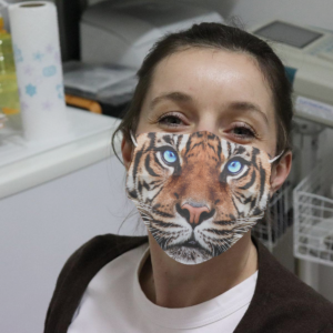 Tiger Face Cloth Face Mask