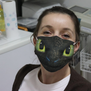 Toothless Face Cloth Face Mask