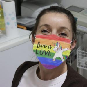 Unicorns - Love Is Love Cloth Face Mask