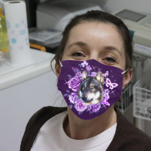 Wolf And Butterflies Cloth Face Mask