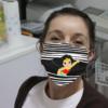 Wonder Woman Striped Cloth Face Mask