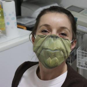 Yoda Face Cloth Face Mask