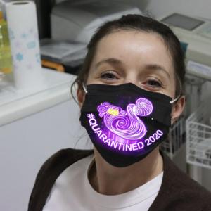 Zodiac - Aquarius #Quarantined 2020 Cloth Face Mask
