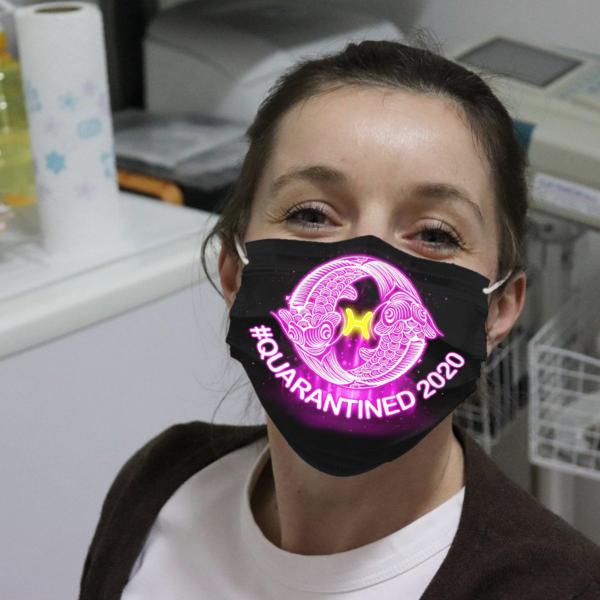 Zodiac - Pisces #Quarantined 2020 Cloth Face Mask