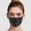 Black Cats Pattern Face Mask