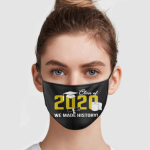 Class Of 2020 – We Made History Face Mask