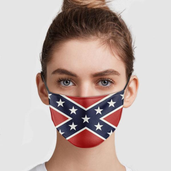 Confederate Flag Face Mask