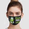 Crazy Frog Lady 2020 Quarantined Face Mask