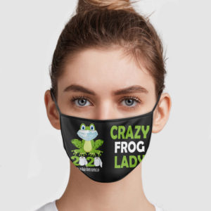 Crazy Frog Lady 2020 Quarantined Face Mask