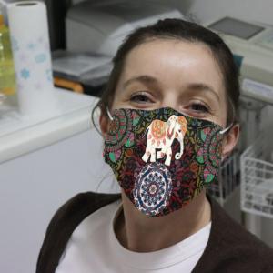 Elephant Hippie Face Mask