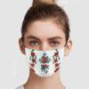 Flower Cross Face Mask
