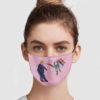 Pride Girl Kick Trump Face Mask