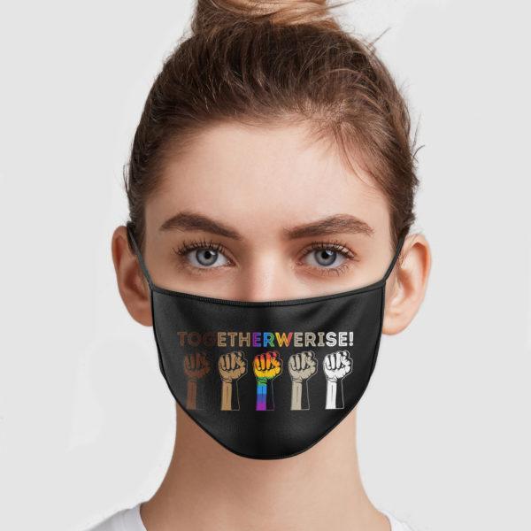 Together We Rise Face Mask