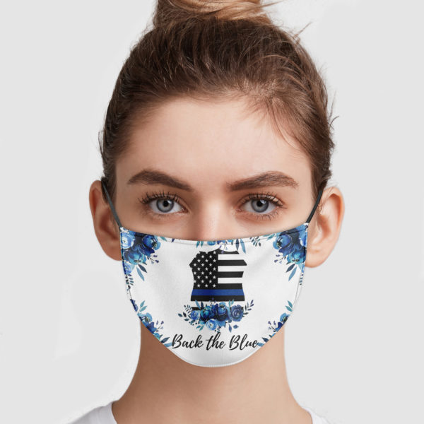 Back The Blue Face Mask