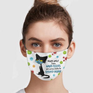 Black Cat – Walk Away I Have Anger Issues Face Mask