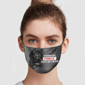 Black Cat – Worn By Force Not By Fear Face Mask