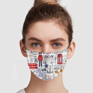 England Pattern Face Mask
