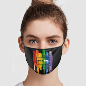 Love Is Wins Face Mask