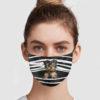 Yorkshire Terrier Stripes Face Mask
