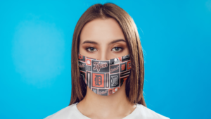 Detroit Tigers Pattern Face Mask