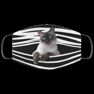 Siamese Cat Stripes Face Mask