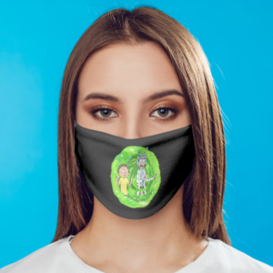 Rick And Morty Fuck Hands Face Mask