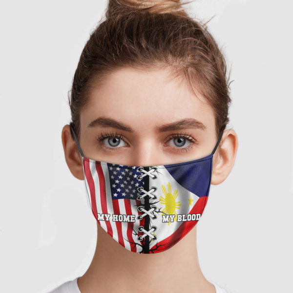 America Is My Home – Philippines Is My Blood Face Mask