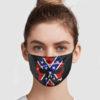 Confederate Flag Skull Face Mask