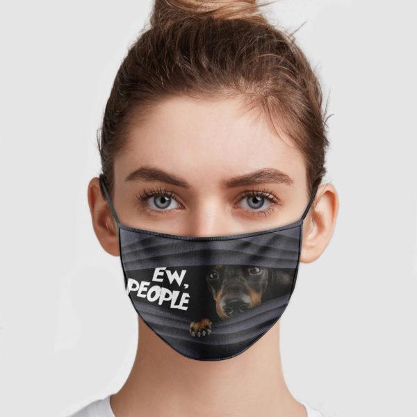 Dachshund Ew People Face Mask