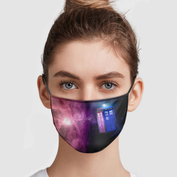 Doctor Who – Police Box Galaxy Face Mask