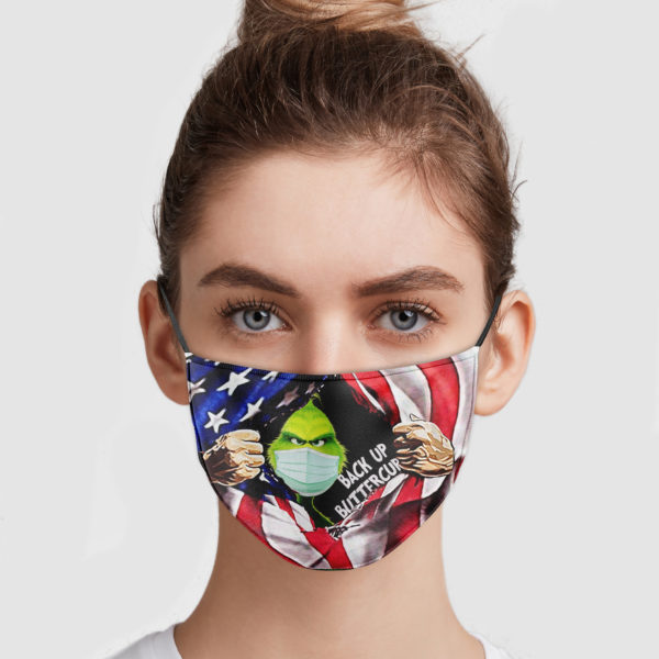 Grinch Inside America Flag – Back Up Buttercup Face Mask