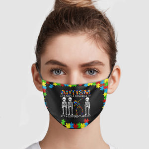 Skeleton Dabbing – Autism It's Not A Disability It's A Different Ability Face Mask