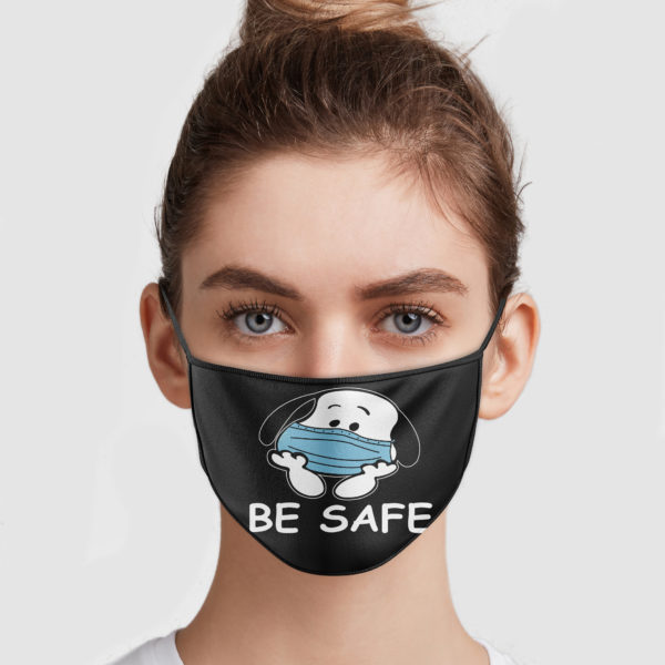 Snoopy Be Safe Face Mask