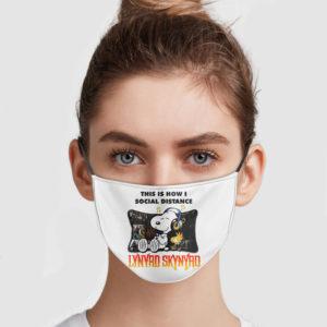 Snoopy – This Is How I Social Distance Lynyrd Skynyrd Face Mask
