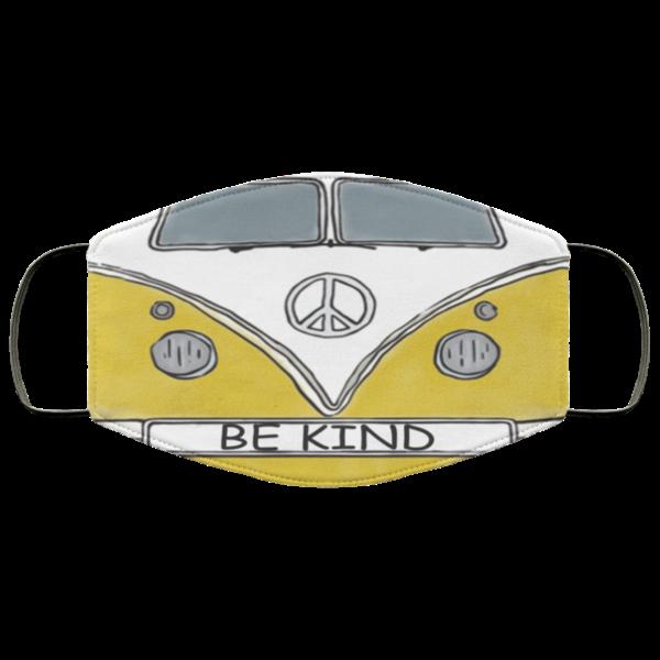 Hippie Car Be Kind Face Mask