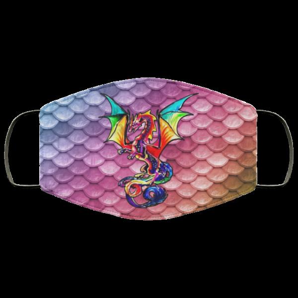 Color Dragon Face Mask