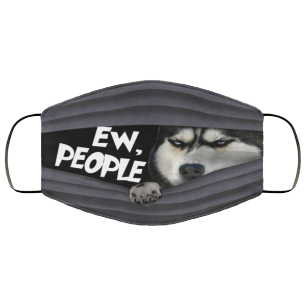 Siberian Husky Ew People Face Mask