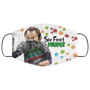The Big Bang Theory Sheldon – Six Feet People Face Mask