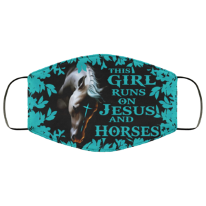 This Girl Runs On Jesus And Horses Face Mask