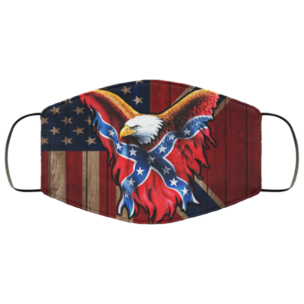 Confederate Eagle Flag Face Mask