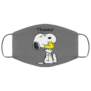 Snoopy Thanks Face Mask