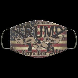 Trump Law And Order 2nd Amendment Guns Face Mask