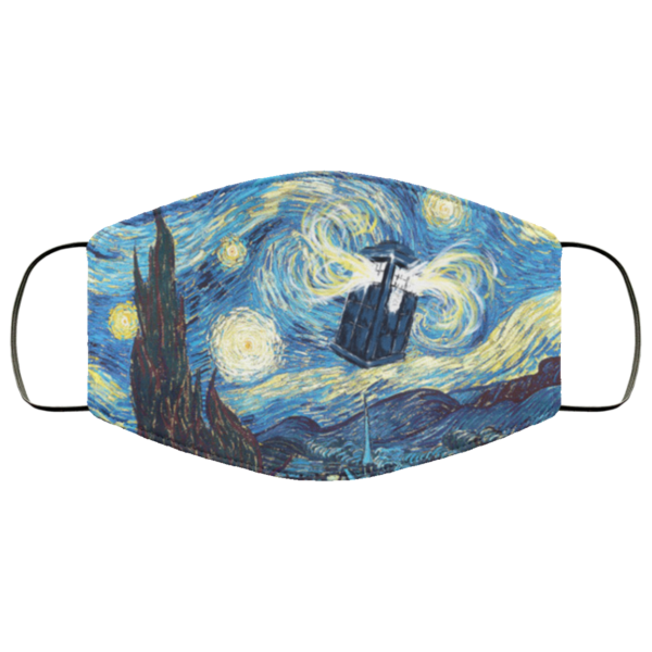 Doctor Who – Police Box Starry Night Face Mask