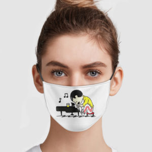 Freddie Mercury Piano Face Mask