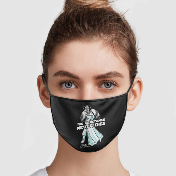 Ruth Bader Ginsburg – The Resistance Never Dies Face Mask