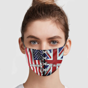 United States Is My Home – United Kingdom Is My Blood Face Mask